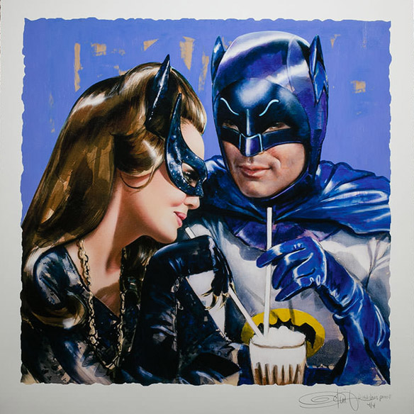 batman-catwoman-meanwhile-at-the-sweet-shoppe-art-print