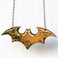 Batman Circuit Board Necklace