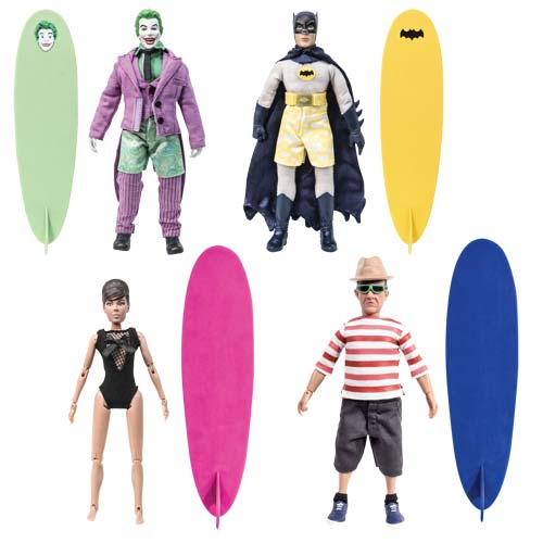Batman Classic 1966 TV Surfing 8-Inch Action Figure Set