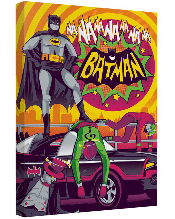 Batman Classic TV Series Batman Wins Again Canvas Wall Art