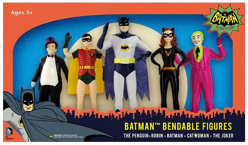 Batman Classic TV Series Bendable Figures
