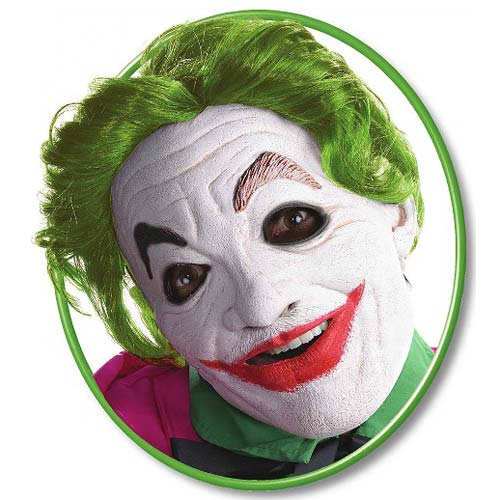 Look like a classic Batman villain with the Batman Classic TV Series Joker  Foam Latex Mask with Hair, and really freak people out if you re able to  recreate ... beddfc8cf2