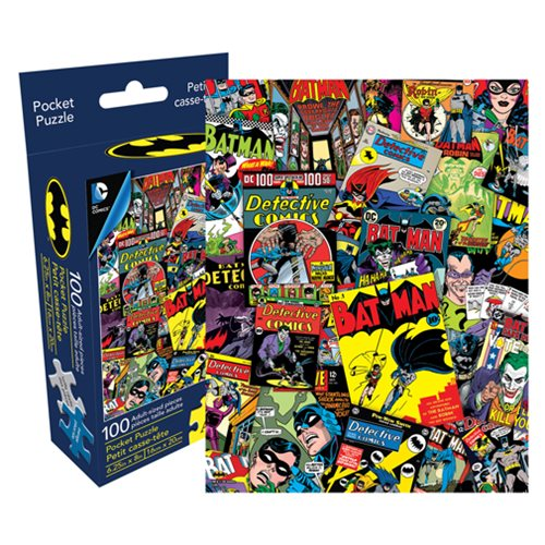 Batman Collage 100-Piece Pocket Puzzle