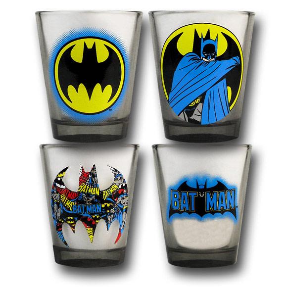 Batman-Collage-Shot-Glass-Set
