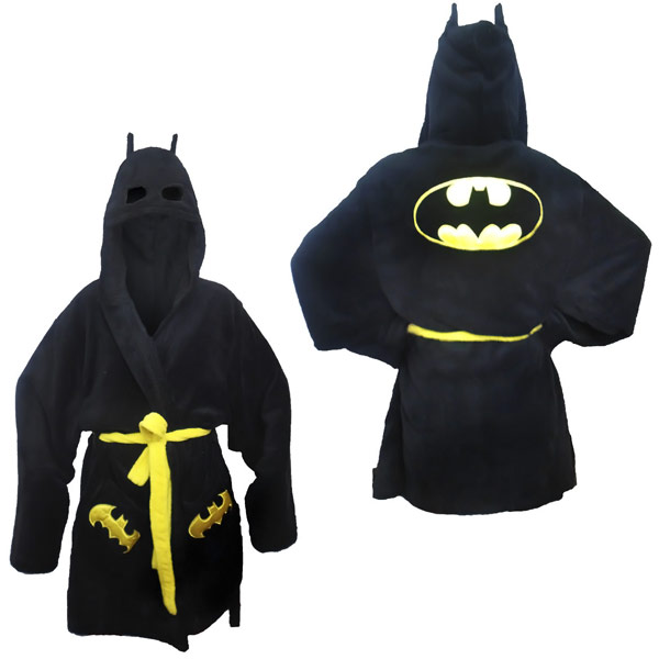 Batman Costume Hooded Bath Robe