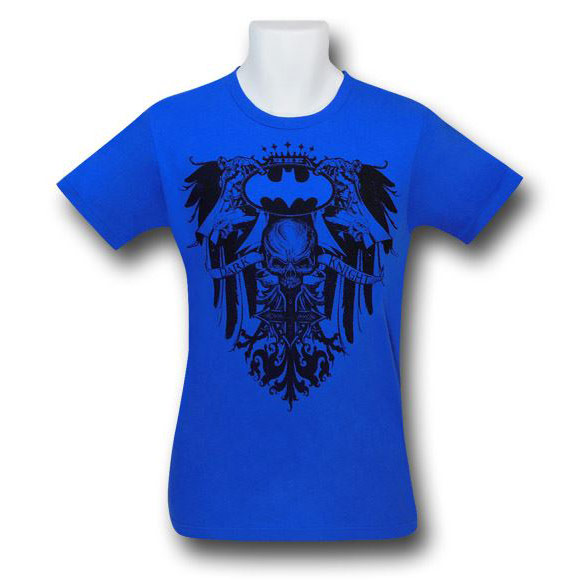 Batman Dark Knight Crest Blue Wash Shirt