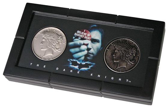 Batman Dark Knight Harvey Dent & Two-Face Coin Replica Set