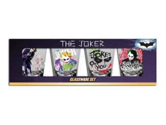 Batman Dark Knight Joker Shot Glass 4-Pack