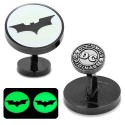 Batman Dark Knight Signal Glow-in-the-Dark Cufflinks