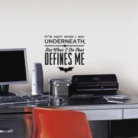 Batman Defines Me Quote Wall Decal