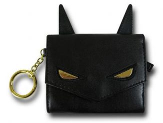 Batman Ears Mini Trifold Wallet w Keyring