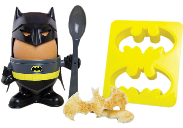 Batman Egg Cup with Toast Stamp