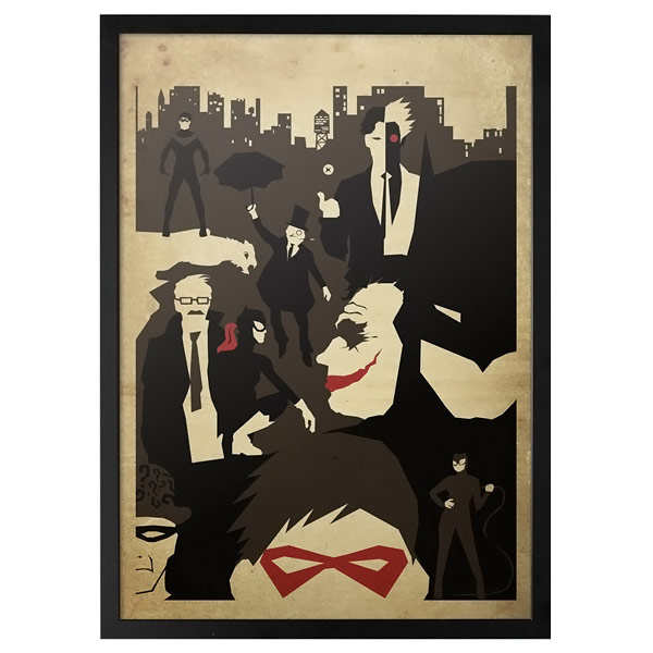 Batman Faces of Gotham Poster