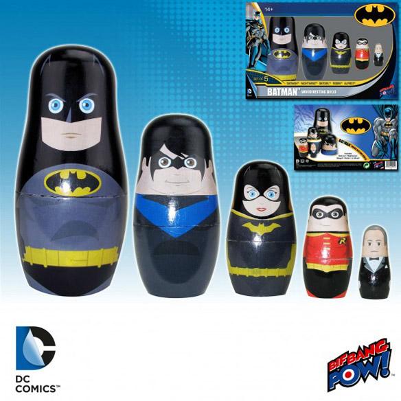 Batman Family Wood Nesting Dolls