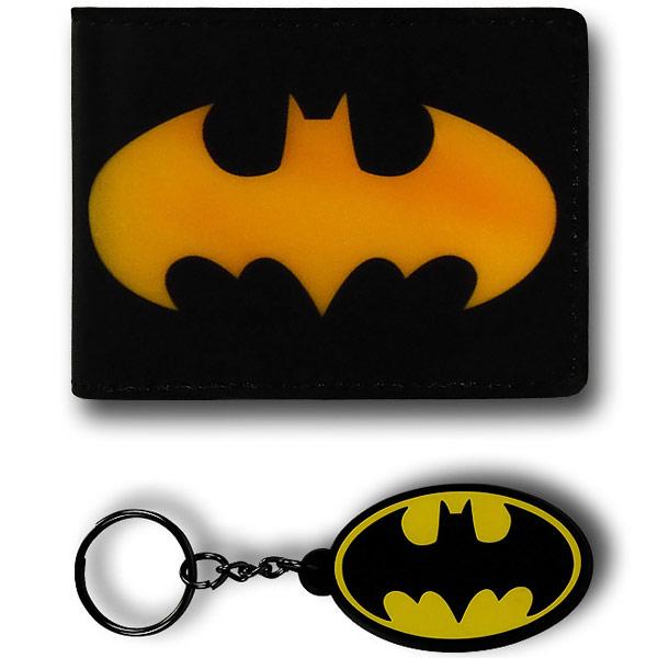 Batman Fat Free Wallet With Keychain