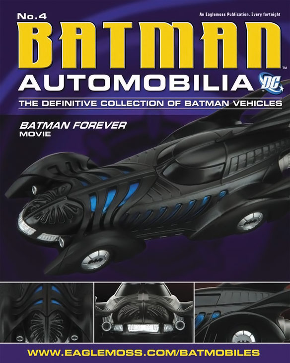 Batman Forever 1995 Batmobile Die Cast Vehicle with Magazine