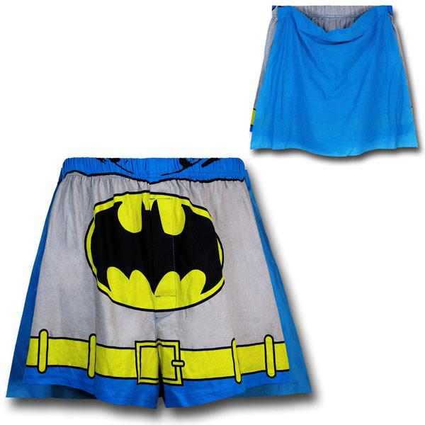 Batman Grey Costume Caped Boxers