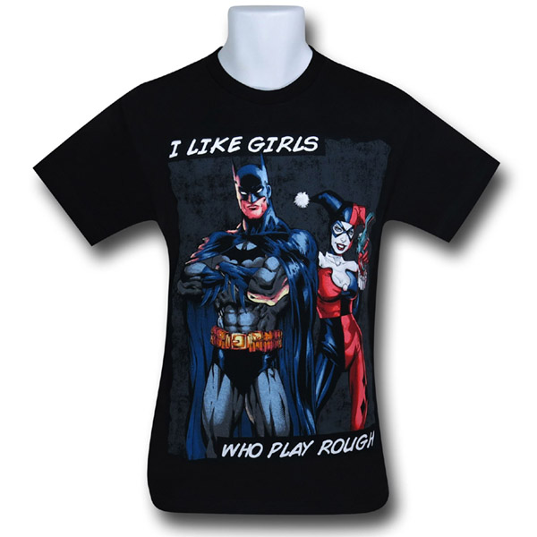 Batman Harley Plays Rough T-Shirt