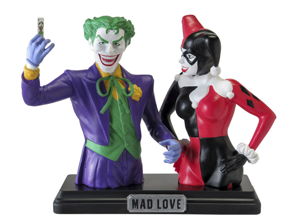 Batman Harley Quinn and Joker Resin Bank 2-Pack