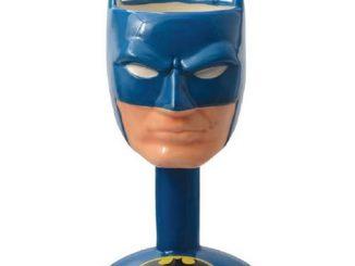 Batman Head Ceramic Molded Goblet