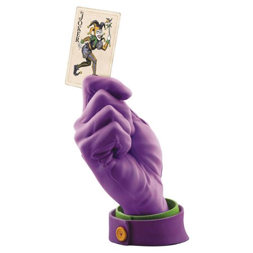 Batman Joker Calling Card Hand Statue