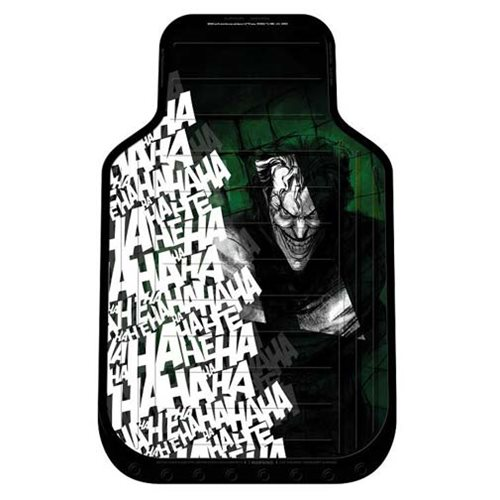 Batman Joker Laughs Plasticlear Floor Mat 2-Pack