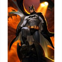 Batman Justice League Trinity Premium Art Print