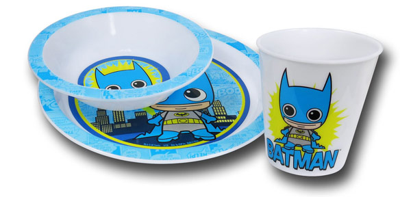 Batman Kawaii Kids 3 Piece Dish Set