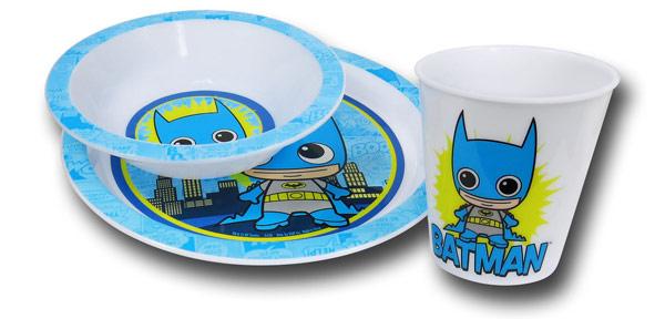 Batman Kawaii Kids 3 Piece Dish Set