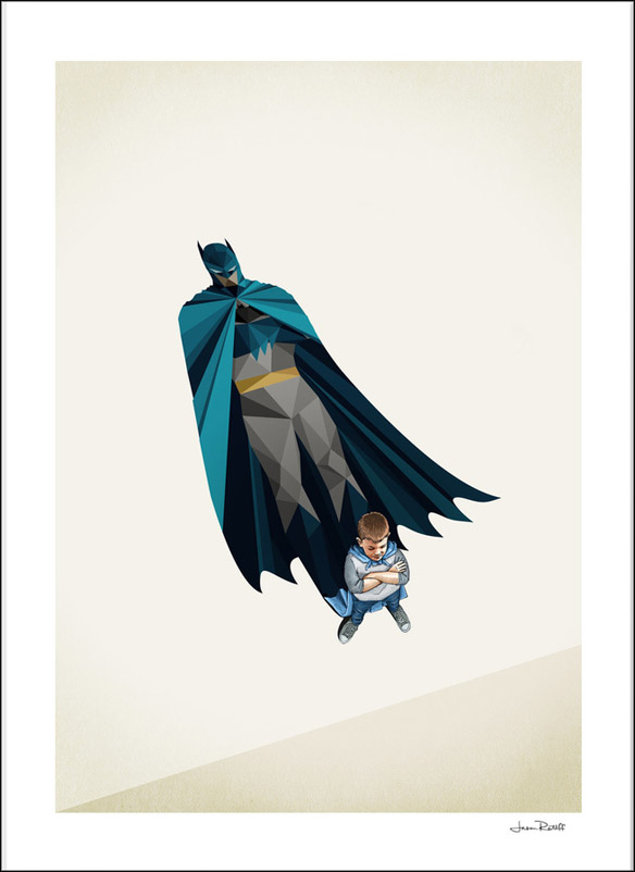 Batman Little Bruce Art Print