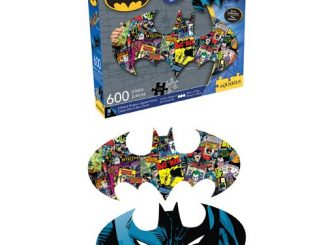 Batman Logo 2-Sided 600-Piece Shaped Puzzle