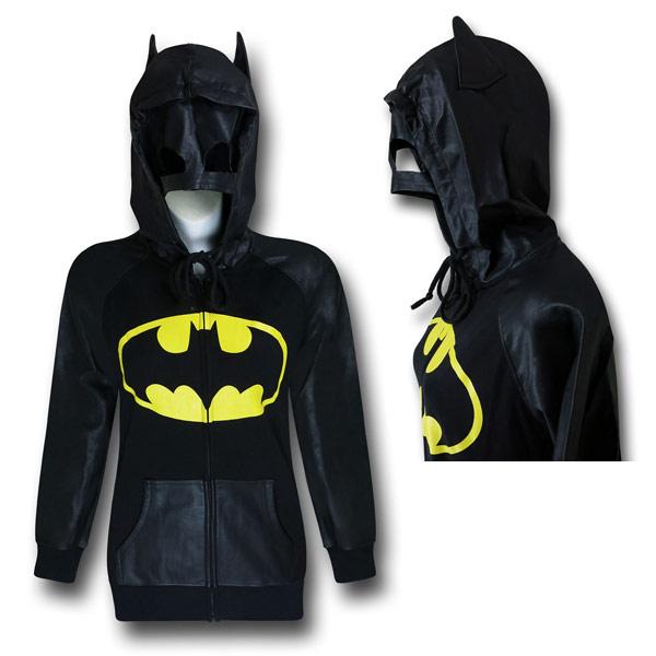 Batman Mask and Hood Womens Hoodie