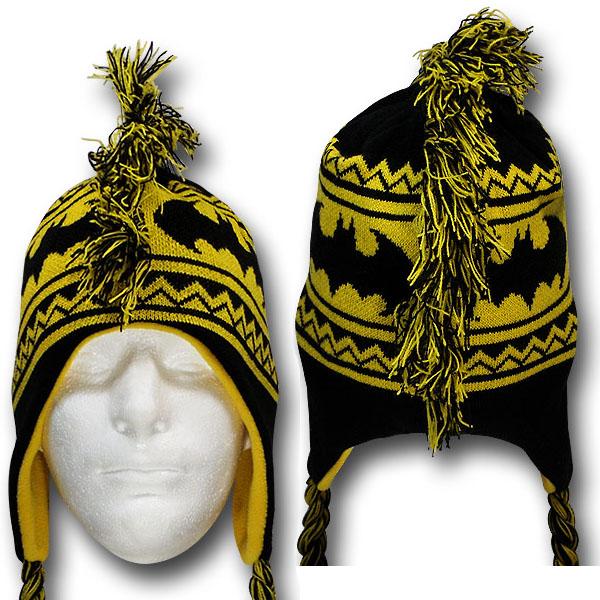 Batman Mohawk Peruvian Intarsia Hat