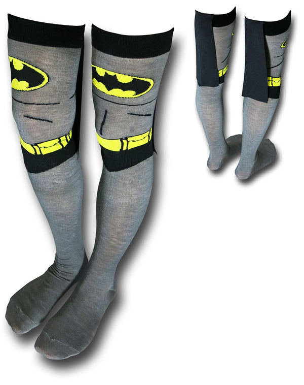 Batman Over the Knee Costume Caped Socks