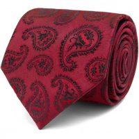 Batman Paisley Burgundy Tie