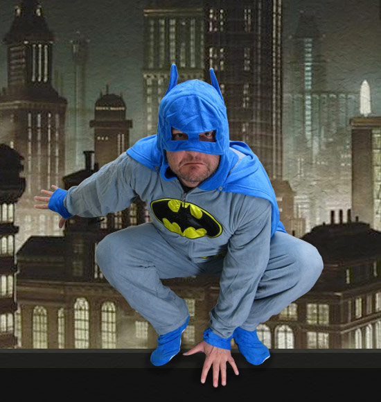 Batman Pajamas with Cape and Cowl