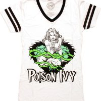 Batman Poison Ivy White V Neck Juniors T-Shirt