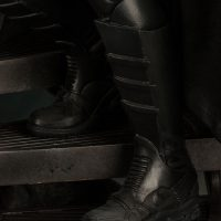 Batman Premium Format Figure Michael Keaton 1989 Batman Film Version Boot Detail