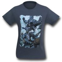 Batman Punch on Grey T-Shirt