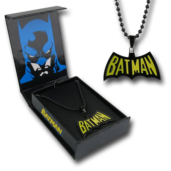 Batman Retro Logo Necklace with Box
