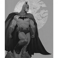 Batman Sentinel of Gotham Premium Art Print