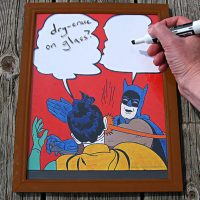 Batman Slap Meme Dry-Erase White Board