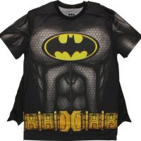Batman Sublimated Costume with Cape T-Shirt