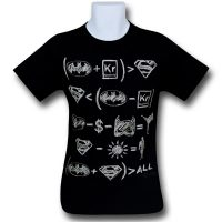 Batman Superman Hero Equations T-Shirt