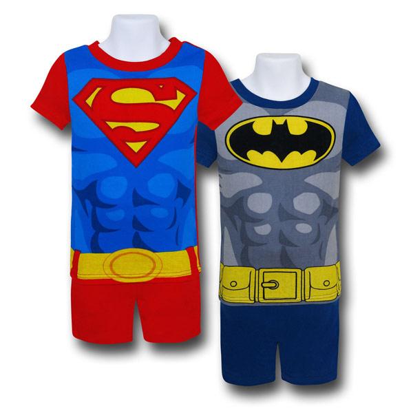 Batman Superman Kids Cotton Short Sleep Sets