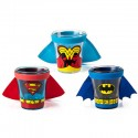 Batman, Superman Wonder Woman Caped Shot Glass