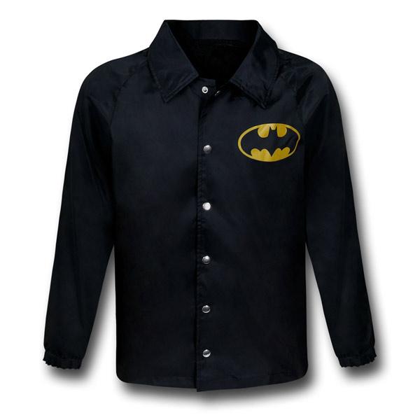 Batman Symbol Black Windbreaker