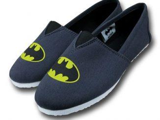 Batman Symbol Canvas Mens Slippers