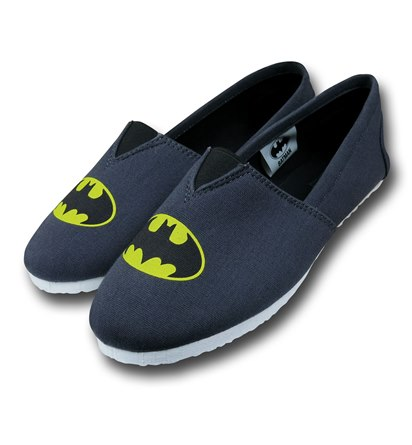 Batman Symbol Canvas Mens Slippers