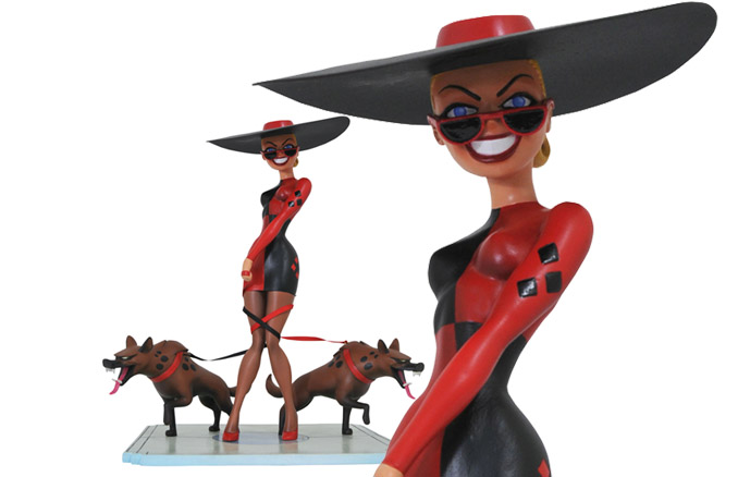 Popular Christmas Toys 2017 >> Batman The Animated Series Premier Collection Harley's Holiday Statue